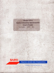 DV-6 Optical Emission Spectrometer, User's Guide | Baird