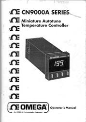 CN9000A Series, Operator's Manual | Omega