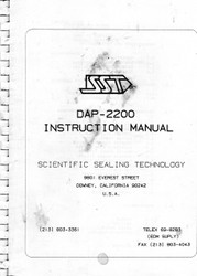 DAP-2200 Instruction Manual | Scientific Sealing Technology