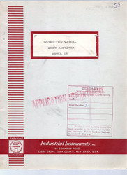 108 Quiet Amplifier, Instruction Manual | Industrial Instruments, Inc.