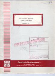 108 Quiet Amplifier, Instruction Manual   Industrial Instruments, Inc.