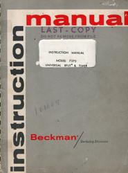 7370 Universal EPUT & Timer, Instruction Manual | Beckman