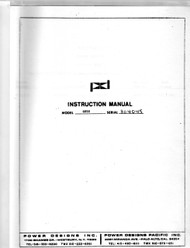 4050 Power Supply, Instruction Manual | Power Designs