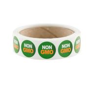 """Green """"NON GMO"""" Labels 500ct"""