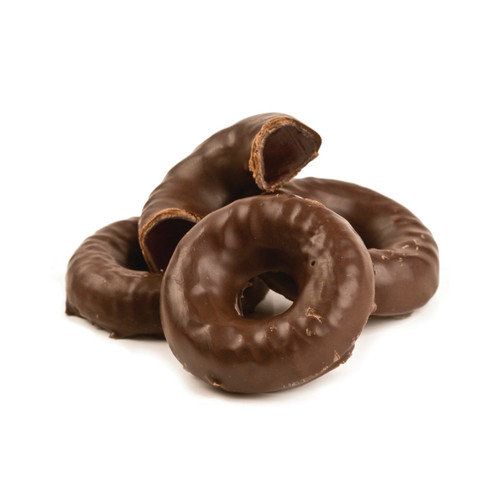 5lb Chocolate Covered Jell Rings - Raspberry