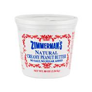 6/5lb Natural Peanut Butter, No Salt