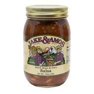 12/16oz Jake and Amos  Salsa Black Bean & Corn