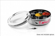 Stainless Steel Masala Dabba (Traditional Indian Dry Fruit / Spice Box) USA