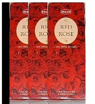 Hem Red Rose Incense (18x20 sticks)Indian incense,USA