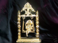 Lord  Ganesh on the swing-gold plated,USA