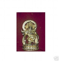 "Brass Ganesh with Flute 7lb 13"" tall,USA"