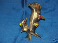 Brass Dolphin figurine,USA