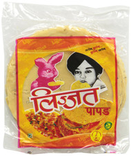 Lijjat Black Pepper (Udad) Papad(Pack of 2)-Indian Grocery,USA