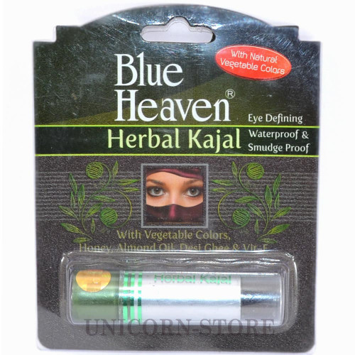 Blue Heaven comes with Herbal Kajal to make it possible and brighten your eyes. If you are looking for a herbal kajal, this Blue Heaven kajal will look perfect in your makeup kit. The Blue Heaven Herbal Kajal is enriched with ingredients like honey, desi ghee, camphor, almond oil, triphala and flower extracts. The camphor extract will soothe your eyes and keep it away from a burning sensation. The Almond oil extract acts as an anti-wrinkle agent and comforts your eyes from stress. Triphala will protect your eyes from itching and rashes, imparting a cooling effect on your eyes. The herbal and natural ingredients in this Kajal will also help in improving your eyesight and encourage the growth of your eyelashes. The lead free kajal is made from vegetable natural color to keep your eyes healthy and safe. You can bid farewell to dry eyes as this black shade kajal will nourish it. So, decorate your eyes with this Herbal Kajal. It Improves Eye-sight, Imparts Cooling Effect on Eyes, Keeps Burning Sensation Away, Makes Eyes Stress Free, Protects Eyes from Itching, Rashes and Dryness, Encourages the Growth of Eyelashes
