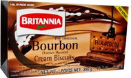 Britannia Bourbon Chocolate Cream Biscuits,390 Grams- Indian Grocery,USA