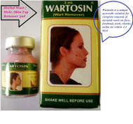 Wartosin is a unique ayurvedic solution for complete removal of elevated warts on face, forehead, neck, cheeks, axilla etc within 4 to 5 days.
