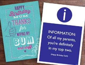 image of mum and dad cards