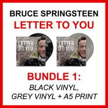 Bruce Springsteen - Letter To You (BUNDLE 1: BLACK VINYL + GREY VINYL + A5 PRINT)