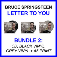 Bruce Springsteen - Letter To You (BUNDLE 2: CD + BLACK VINYL + GREY VINYL + A5 PRINT)