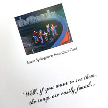 Bruce Springsteen Song Quiz (Greetings Card)