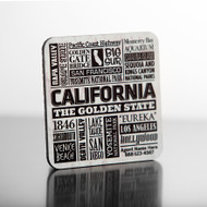 Hardboard Masonite personalized typography Real Estate closing gift drink coaster.