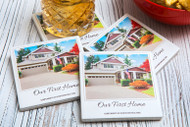 Instant camera photo tumbled porcelain drink coasters with clients home ( set of four )