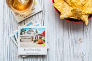 Instant camera tumbled marble drink coasters with your clients home ( set of four )