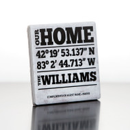 Continued Closings Program Tumbled Marble drink coasters with our personalized designs