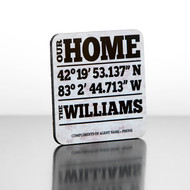 Continued Closings Program masonite drink coasters with our personalized designs