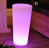 LED PLANTER TALL BASE 38INCHES TALL