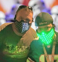 LED FLASHING FACE MASK