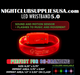 LED ENGRAVED WRISTBANDS SOUND ACTIVATED