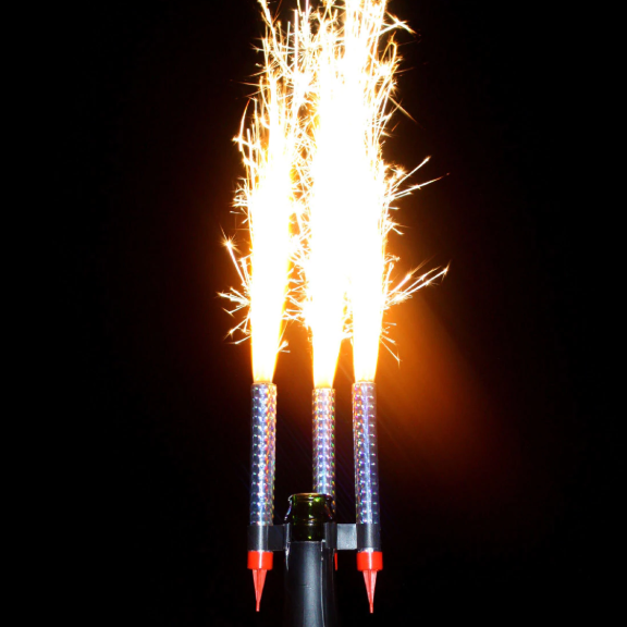 BOTTLE SPARKLERS BIRTHDAY CANDLE