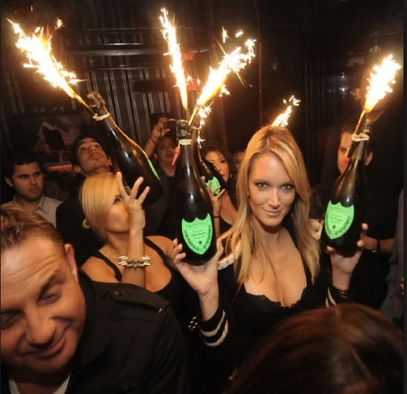 Champagne Bottle Sparklers Birthday Cake Candle For Bottles