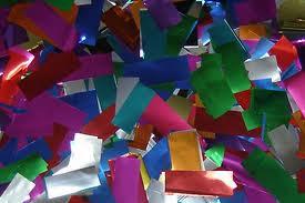 METALLIC CONFETTI, confetti by the pound, confetti, bulk confetti, rectangle confetti, wedding confetti, night club confetti, nightclub confetti, confetti for all occasions, colorful confetti