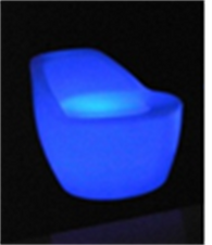 led chair, led furniture, led decoration, patio furniture, led , glow in  a dark decoration, led stool