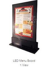 led light up menu board