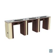 Verona Nail Table - Triple. Gel insert optional