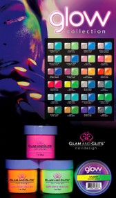 GLOW in the DARK ACRYLIC POWDER 48 Colors Collection Set