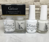 Gelixir Matching Gel & Polish - 090 -White (Very Good)