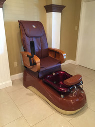 Commercial Complete Pedispa Deluxe 2 - Burgundy/RedWine