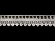 "White Edge Lace Trim - Beading - 1.375"" (WT0138E06)"