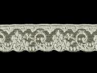 "Off White Edge Lace Trim - Cotton - 2.5"" (WT0212E04)"