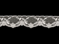 "White Edge Lace Trim w/ Sheen - 1.375"" (WT0138E07)"