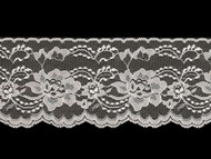 "White Edge Lace Trim - Stiff - 4.25"" (WT0414E01)"