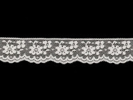 "White Edge Lace Trim - 1.25"" (WT0114E10)"