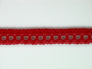 "Rust Edge Lace Trim - Beading - 0.375"" (RT0038E01)"