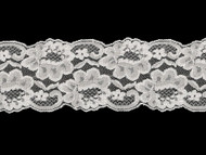 "White Galloon Lace Trim w/ Sheen - 3.75"" (WT0334G01)"