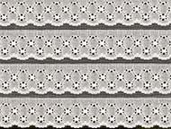 """White Edge Lace Trim Eyelet - 8.375"""" (WT0838E01)"""