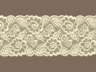"Ivory  Galloon Stretch Lace Trim - 4"" (IV0400G01)"